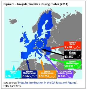 Irregular immigration in the EU 2014
