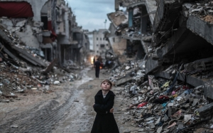 bombed streets